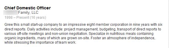 LinkedIn example