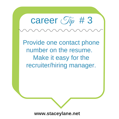Career Tip #3: One phone number