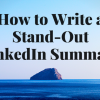 blog header 5.3.17 - How to Write a Stand-Out LinkedIn Summary
